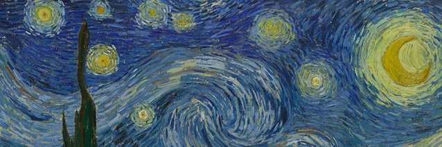 Image credit: The Starry Night (detail), Vincent van Gogh, Saint Rémy, June 1889. Museum of Modern Art, New York, New York.