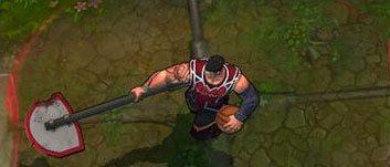 Dunkmaster Darius swinging his axe