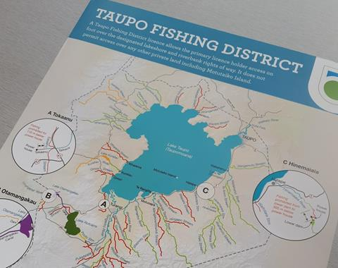 Map of Taupo fishing district
