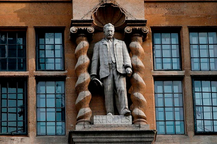 Oriel College Oxford has decided its statue of Cecil Rhodes will not fall after all | Victoria Pomery has been appointed director of The Box in Southampton | TEFAF Maastricht has been pushed back again to 2022, and the Sharjah Biennial to 2023 | Banksy has lost a copyright dispute with the EU