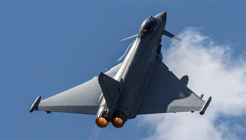 RAF Typhoons scrambled for their first mission in Romania