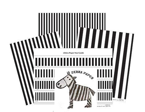 zebra spacing paper by pfot