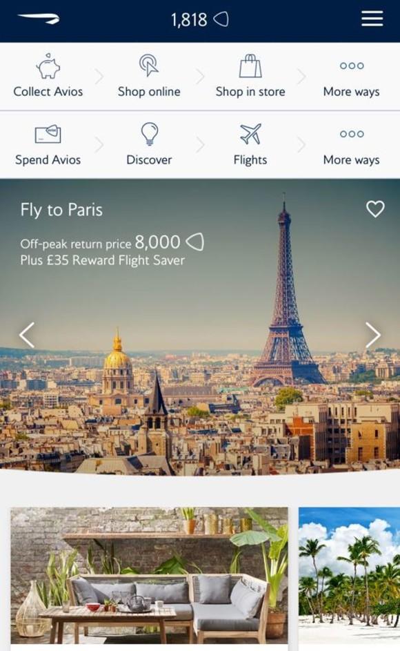 British Airways Executive Club reward app 1